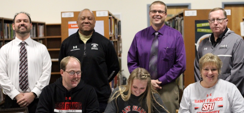 Athens senior Lunger signs with Division 1 St Francis